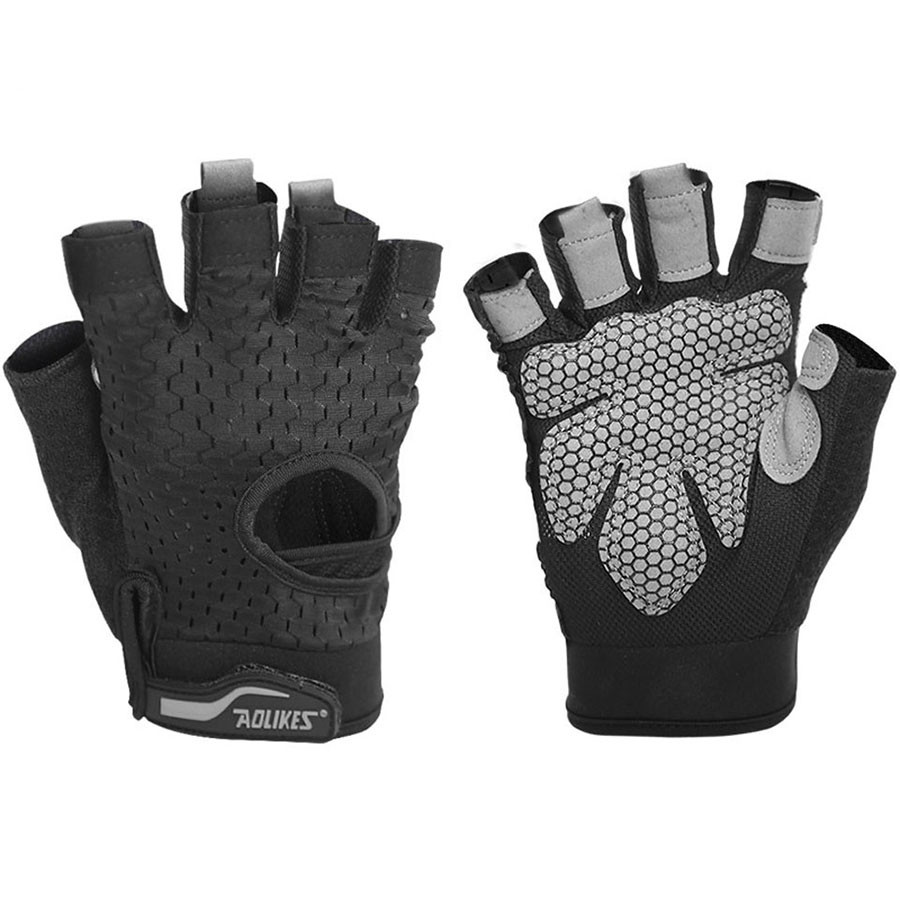Bộ đôi găng tay nửa ngón tập gym Aolikes AL113 (1 đôi)