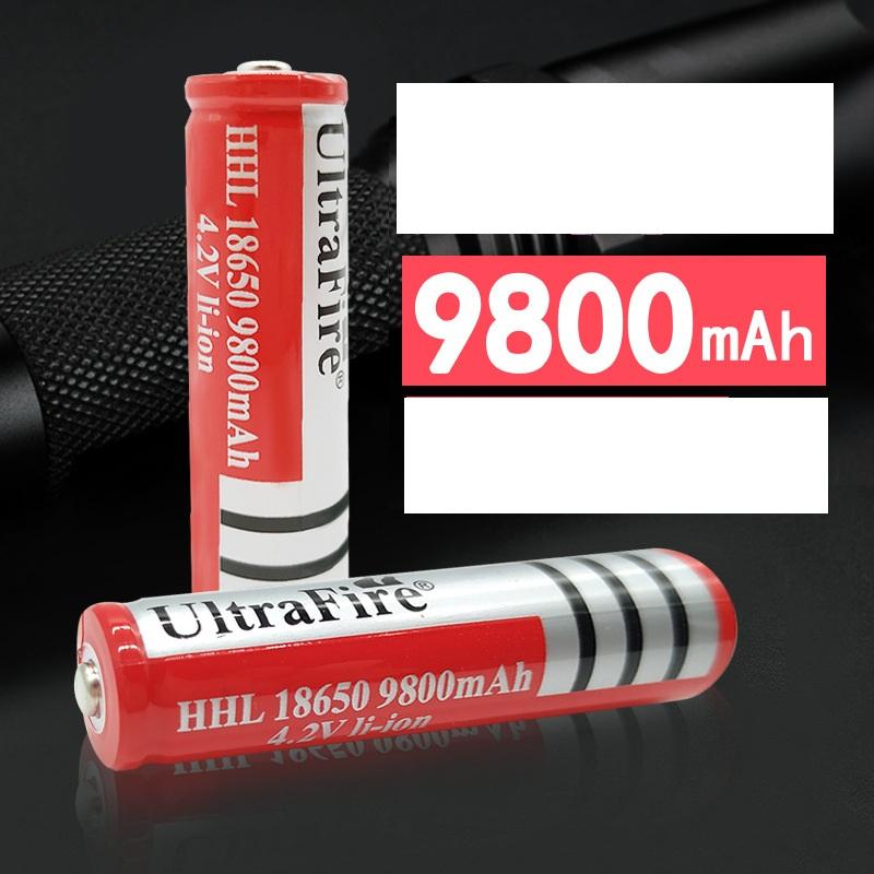 Pin lithium dung lượng cao sạc lại 18650 3.7V - 9800mAh - Hàng nhập khẩu