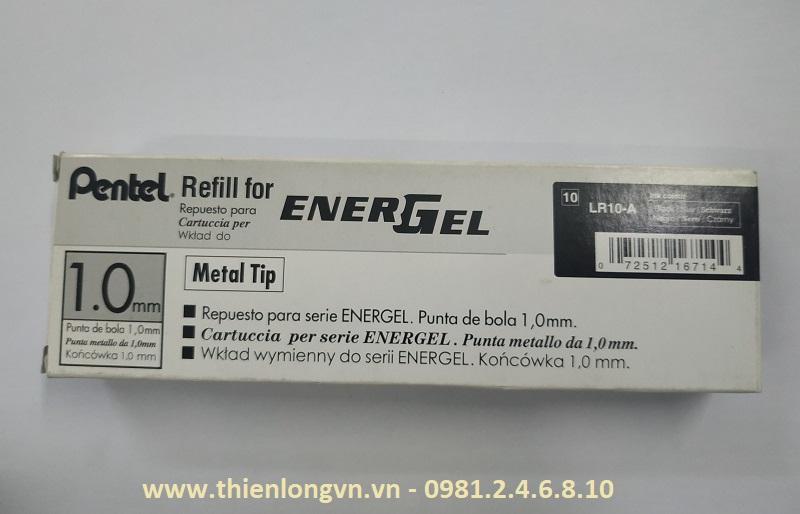 Hộp 12 Ruột bút nước energel Pentel LR10 màu đen 1.0 mm