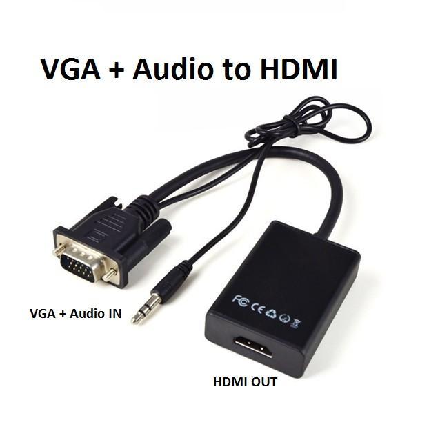 CÁP CHUYỂN ĐỔI VGA KÈM AUDIO SANG HDMI