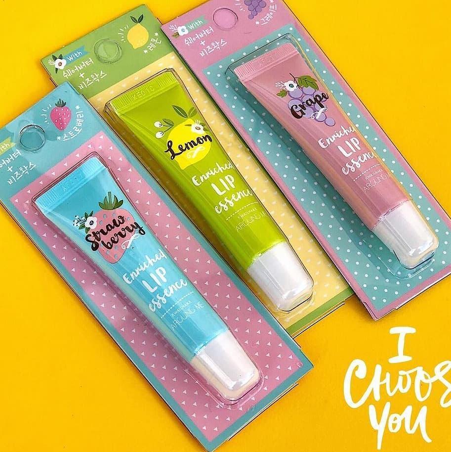 [Tặng móc khoá] Son dưỡng thâm môi Around Me Enriched Lip Essence Hàn Quốc 8.7g (Hương chanh)