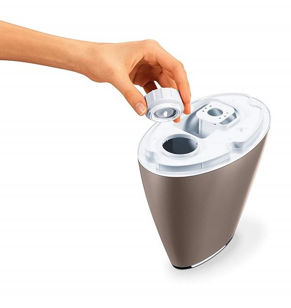 Máy phun tạo độ ẩm không khí Beurer LB37 Toffee (có chế độ ban đêm, bình chứa 2 lít, phòng vuông 20m2) - Hàng chính hãng
