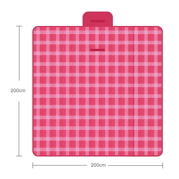 THẢM DÃ NGOẠI, DU LỊCH, PICNIC CAO CẤP - Chống thấm nước, họa tiết caro, gấp gọn tiện lợi - 2 kích thước khách chọn màu!