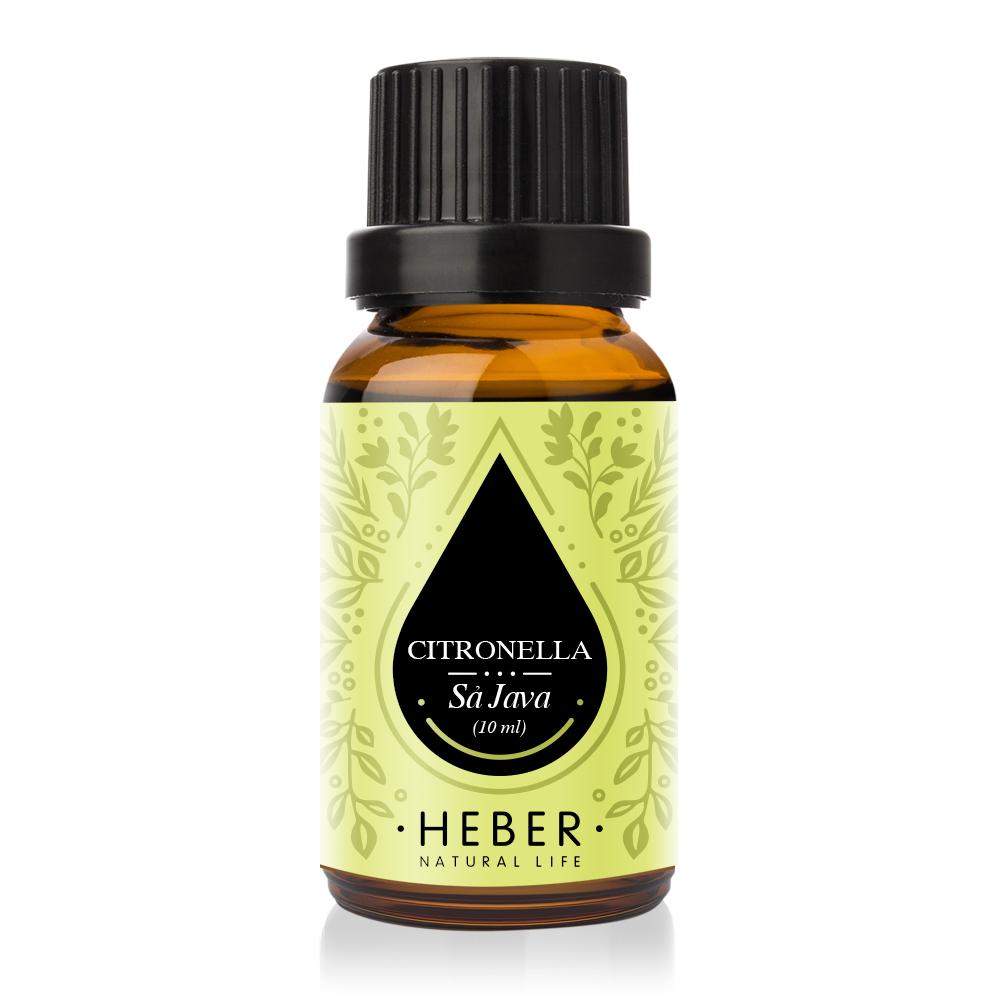 Tinh Dầu Sả Java Citronella Essential Oil Heber   100% Thiên Nhiên Nguyên Chất Cao Cấp   Nhập Khẩu Từ Ấn Độ   Kiểm Nghiệm Quatest 3   Xông Thơm Phòng   Hương Dịu Nhẹ