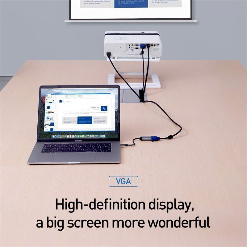 Hub đa cổng Baseus Enjoyment Series Type C (Convertor) - Hub chuyển đổi Type-C to Mini DP cho Smartphone/ iPad/ Laptop/ Macbook - Hàng Chính Hãng