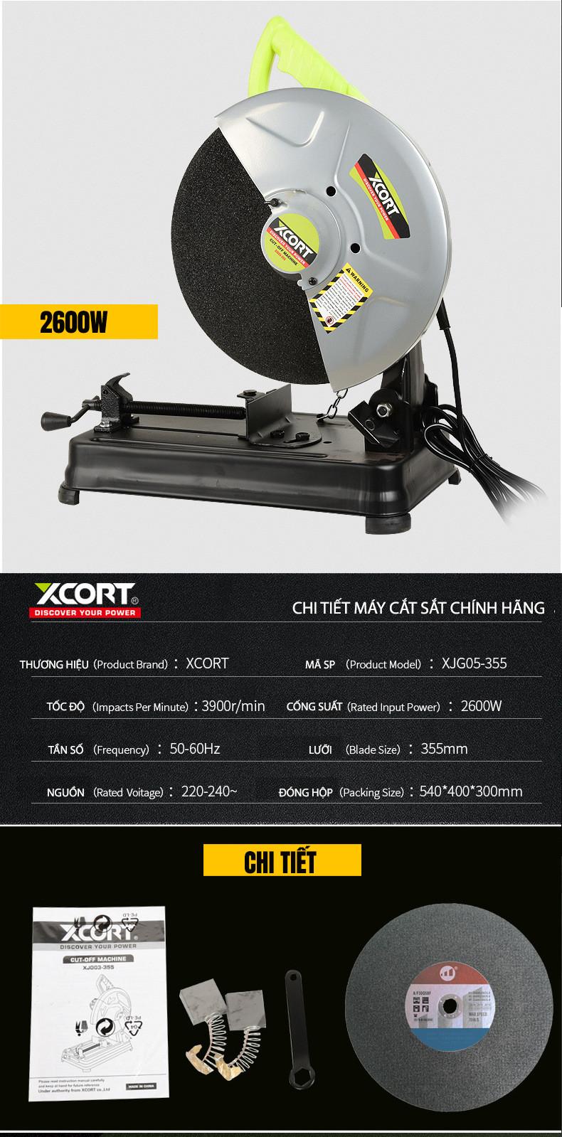 Máy cắt sắt,Máy cắt sắt 2600W XCORT