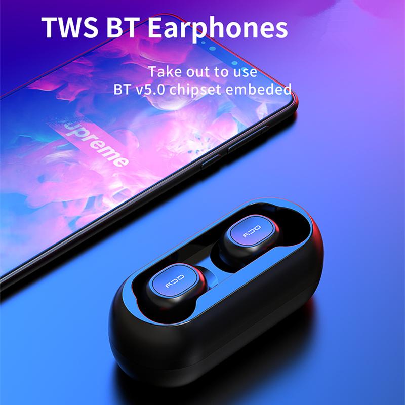 Tai Nghe Không Dây Bluetooth 5.0 True Wireless QCY T1 - Chống Ồn - Kháng Nước - Hàng Chính Hãng