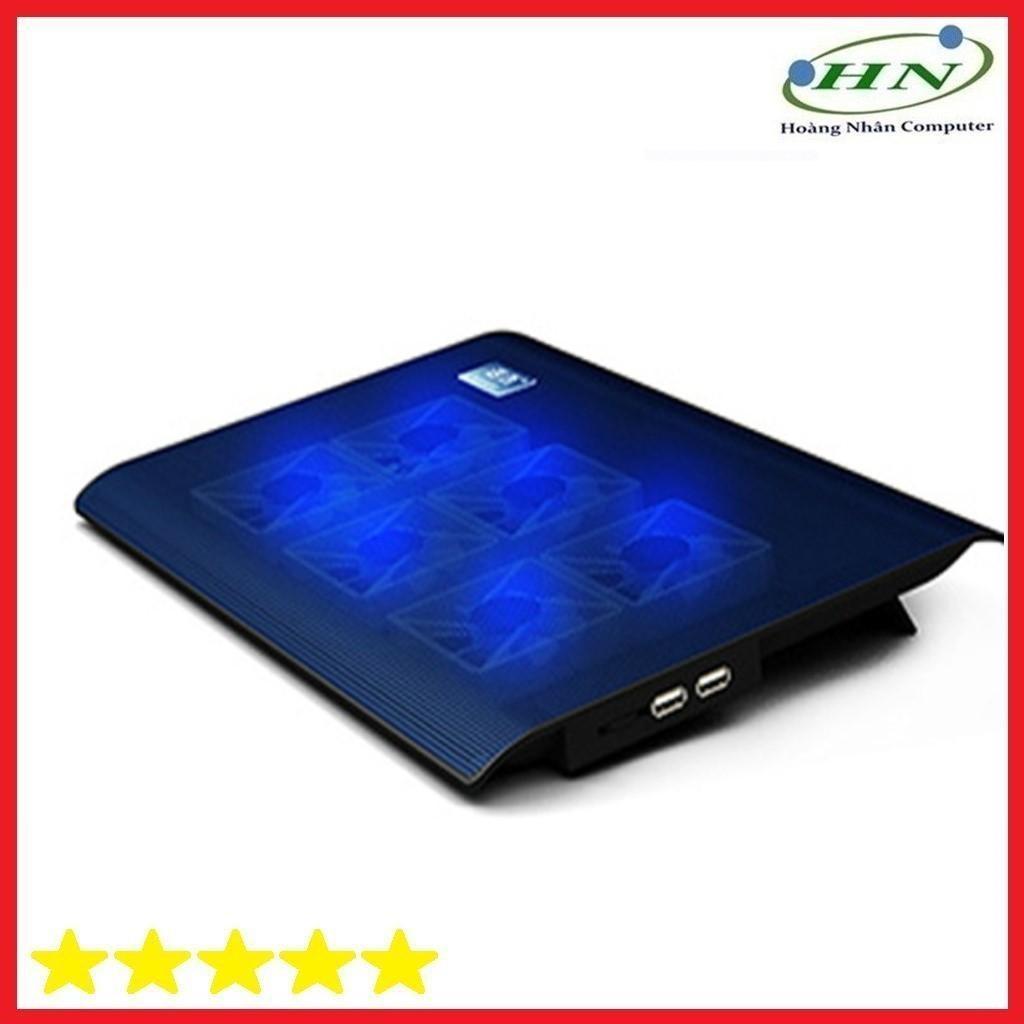 Đế tản nhiệt Laptop L112 - 6 quạt cực mạnh, chạy cực êm, đèn xanh dịu mắt.