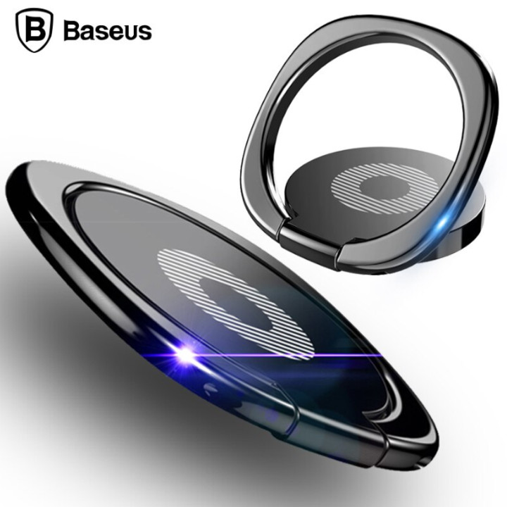 Nhẫn đeo tay chống đánh rơi điện thoại bằng kim loại cao cấp Baseus SUMQ-01 - Hàng nhập khẩu