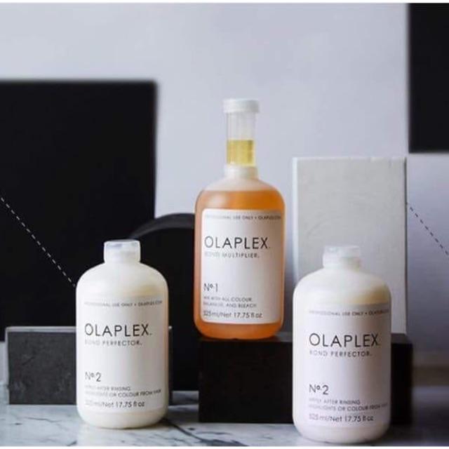 Bộ phục hồi tóc Olaplex Bond No.1 No.2 Cao cấp Mỹ 525mlx3 cho tóc hư tổn nặng - Hàng chính hãng