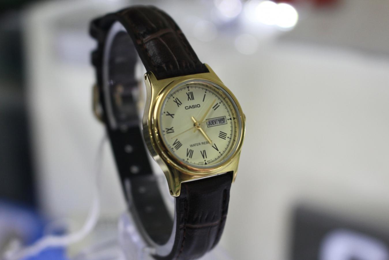 Đồng hồ nữ dây da Casio LTP-V006GL-9BUDF
