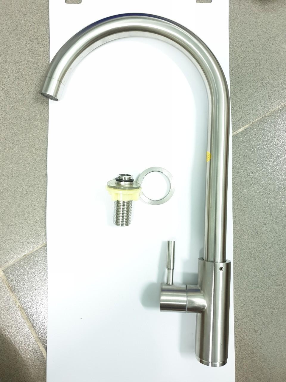Vòi rửa bát , chén Lạnh INOX SUS 304_ vòi rửa chén lạnh inox sus304_ vòi chén lạnh inox cao cấp