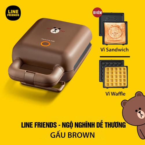 Máy Làm Bánh Sandwich Joyoung Line SK-T1 Cực Cute - Hàng Chính Hãng