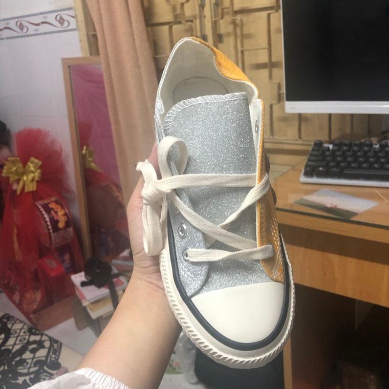 Giày Thể Thao Kim Tuyến Nữ Phong Cách Đi Chơi Đi làm