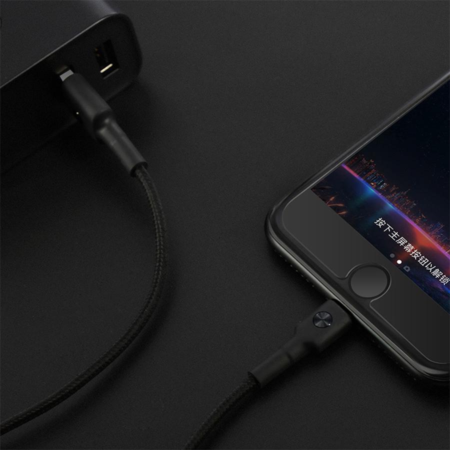 Dây Cáp Lightning Xiaomi ZMI 1m Bọc Kevlar (Đen) - Hàng Nhập Khẩu