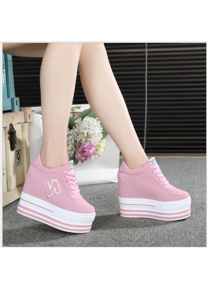 Giày bánh mì nữ đế độn cao 12cm 3 màu phong cách Hàn Quốc HN083BM