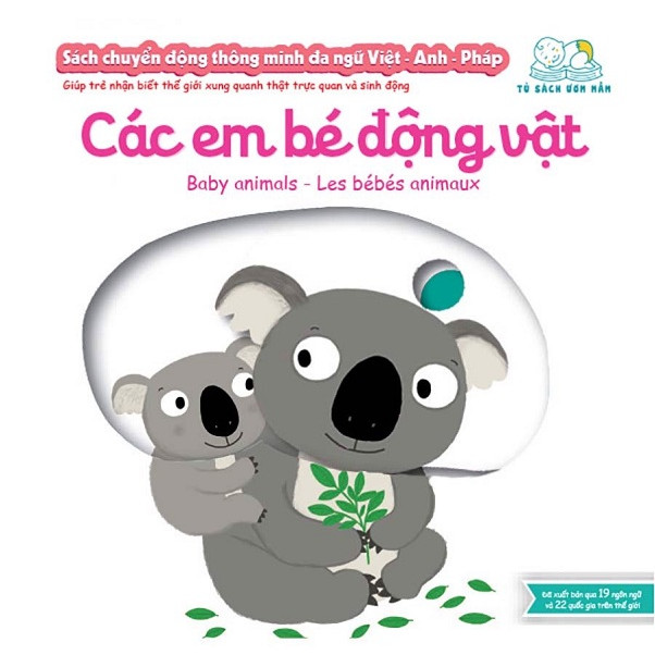 Cuốn sách giúp bé phát triển tư duy logic về vận động:  Sách Chuyển Động - Song Ngữ A-V: Các Động Vật Nhỏ Bé