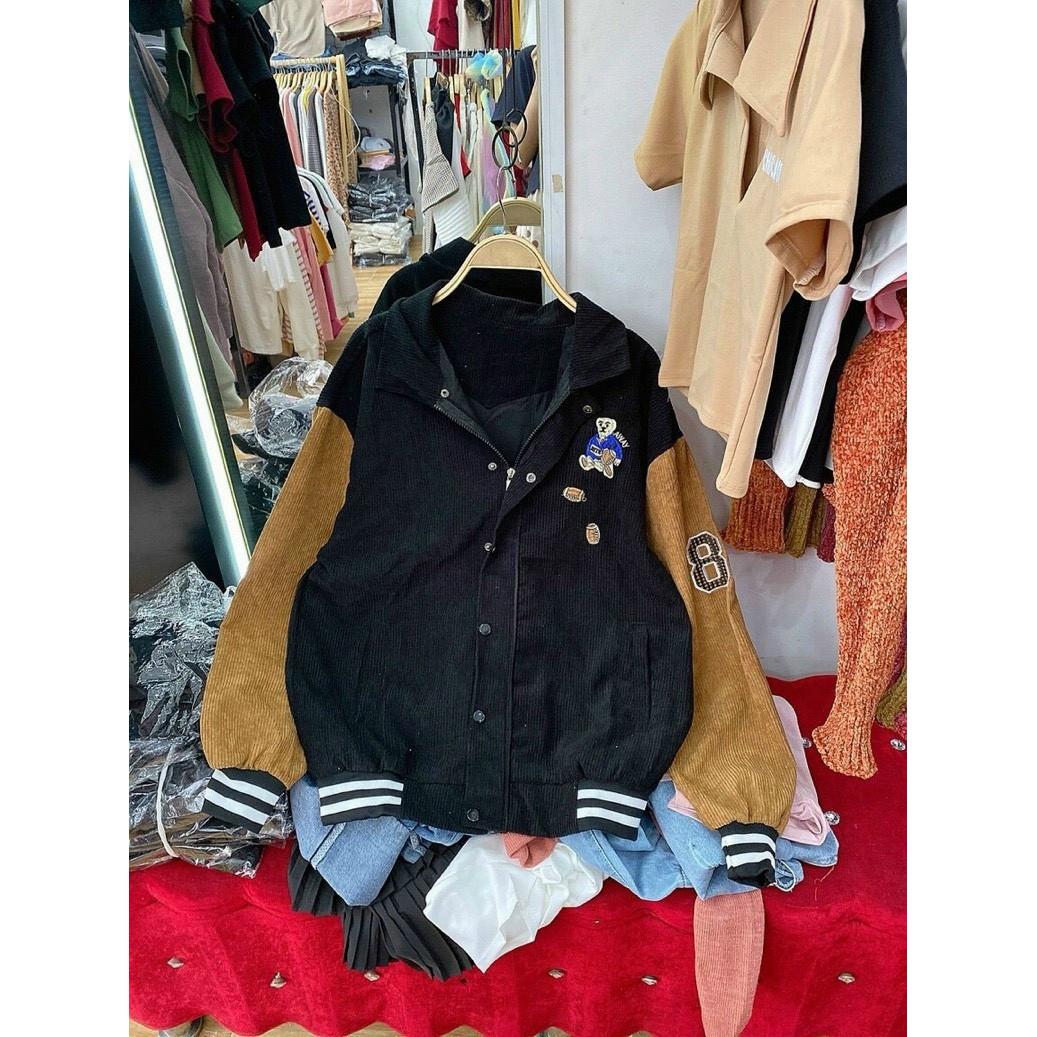 áo khoác bomber nhung, áo khoác nhung đẹp