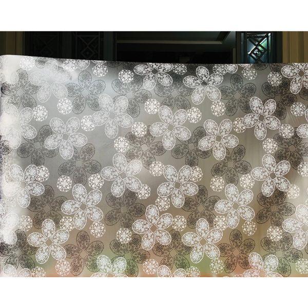 Decal dán kính hoa 5 cánh  - có sẵn keo - dán cửa phòng khách - cửa toilet - phòng ngủ - phòng bếp DK47
