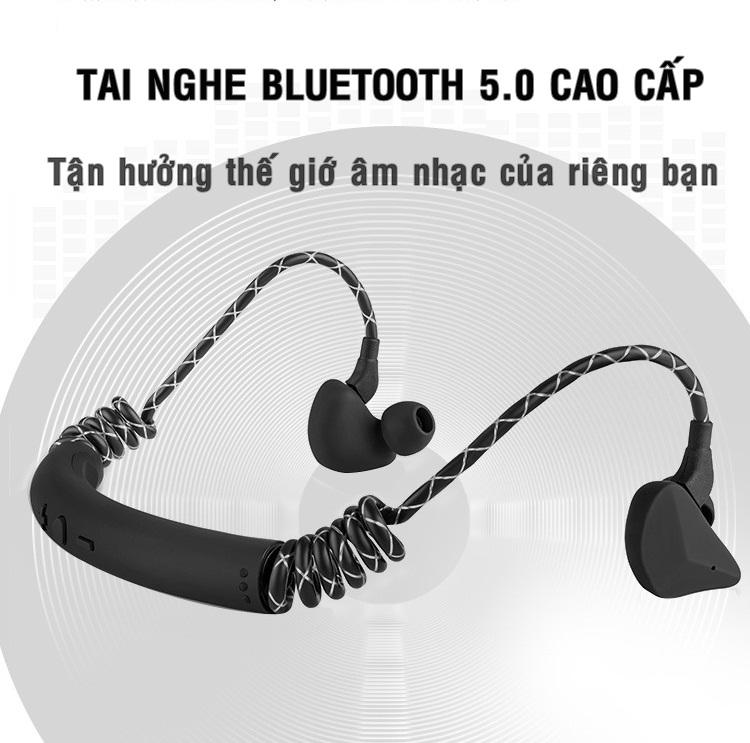 Tai nghe Bluetooth vòm 6D - Âm bass hoàn hảo