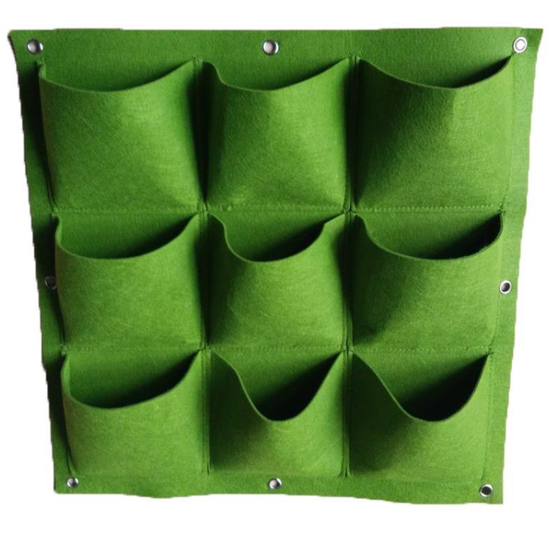Túi trồng cây treo tường 9 hốc, Túi làm vườn tường trang trí, Túi trồng hoa, rau, cây cảnh
