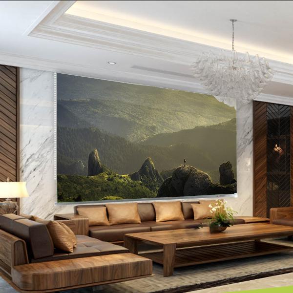 Rèm Tranh 1 Tấm Mẫu Phong Cảnh_PC092