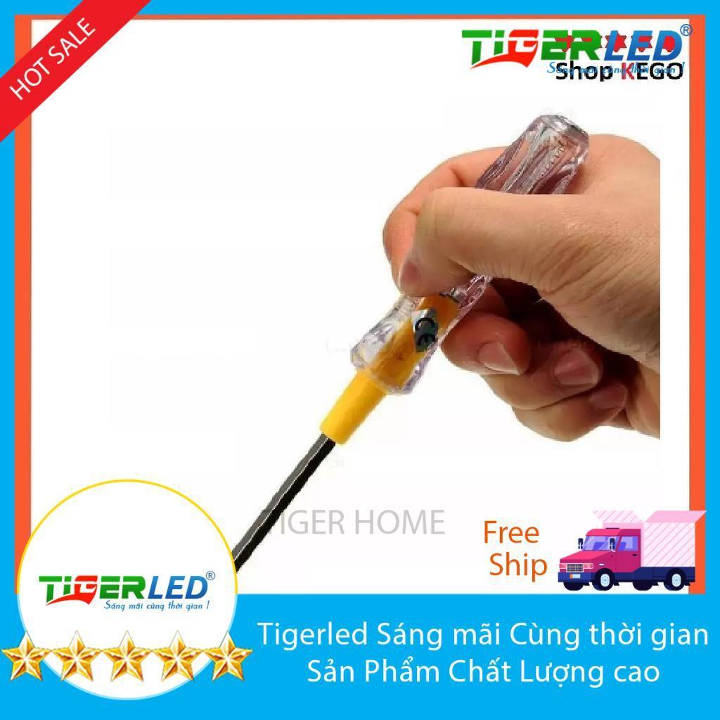 combo 8 Tua vít 2 đầu kiêm bút thử điện đa năng an toàn tiện lợi Tigerled vietnam