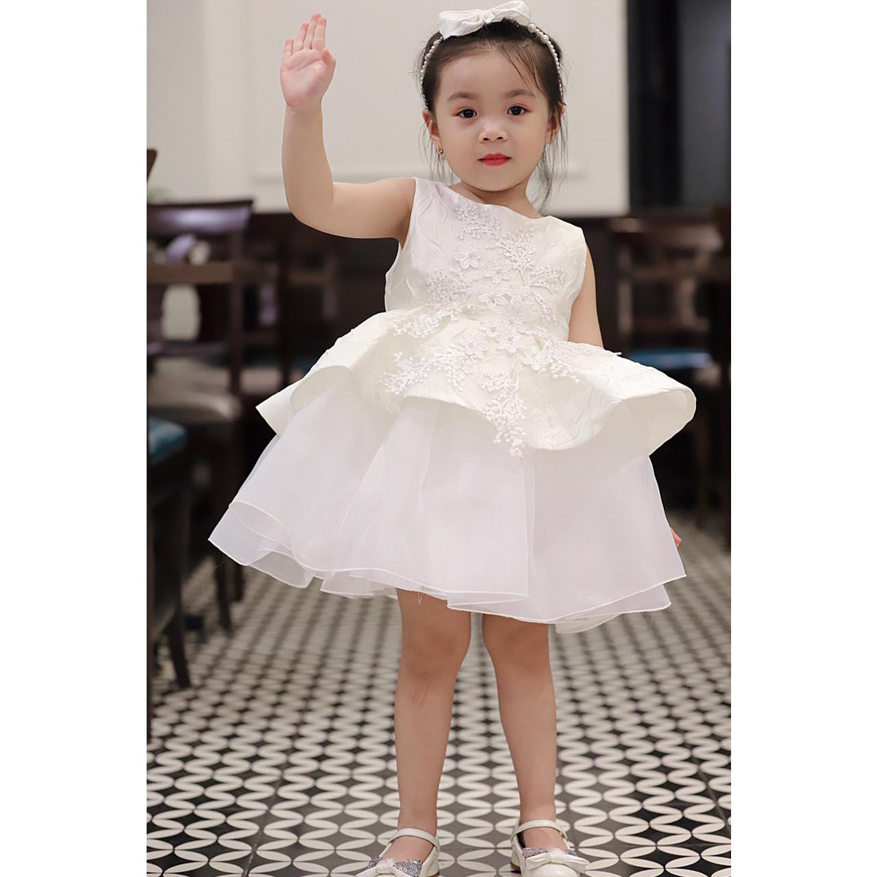 Đầm tầng xòe dạ tiệc bé gái size 2-7 (10-24kg)