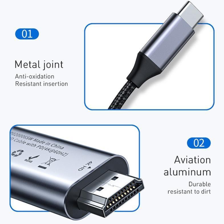 Cáp chuyển USB Type C sang HDMI Baseus LV172/LV584- Hàng chính hãng.