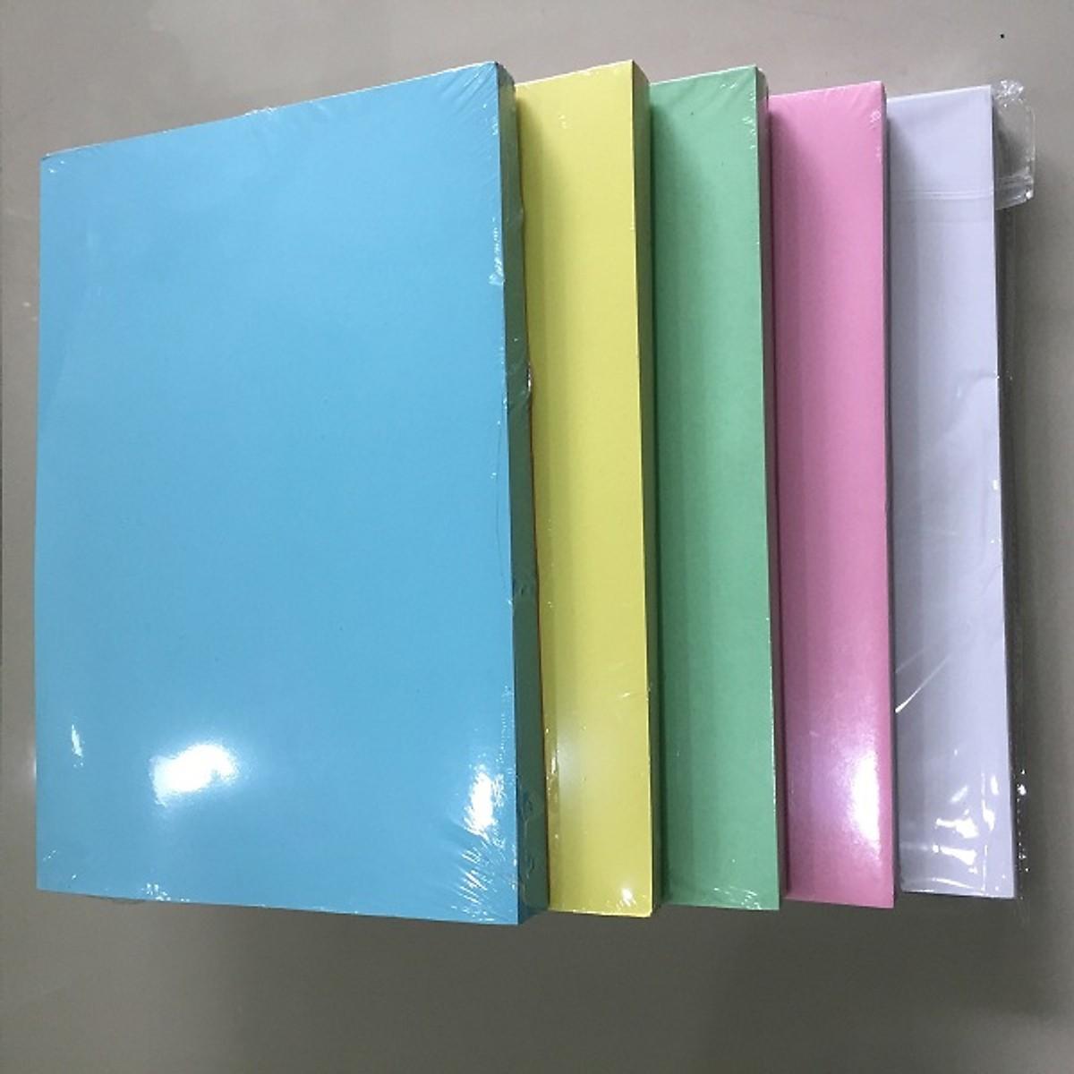 Giấy bìa Thái A4 180 gm - 5 màu
