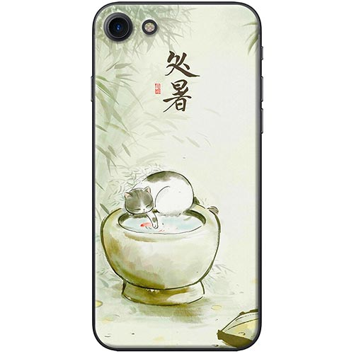 Ốp Lưng Hình Mèo Và Lu Nước Dành Cho iPhone 7  8