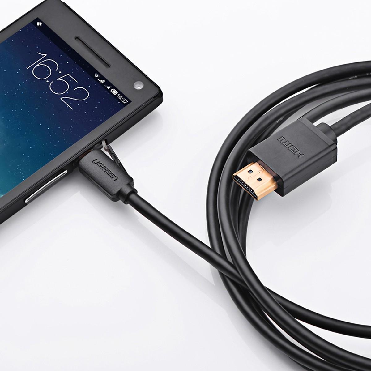 Cáp chuyển đổi MICRO HDMI sang HDMI Dài 2m UGREEN - Hàng chính hãng