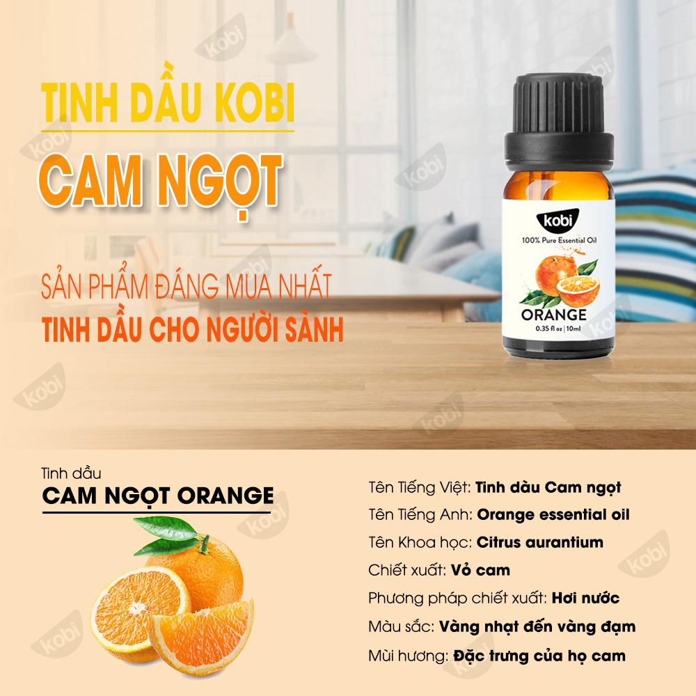 Combo 3 Tinh Dầu Kobi Nhập Khẩu Ấn Độ: Tinh Dầu Sả Chanh (30ml) + Tinh Dầu Cam Ngọt (30ml) + Tinh Dầu Vỏ Bưởi (30ml) - Tinh dầu thiên nhiên nguyên chất, dùng xông phòng, giúp đuổi muỗi, khử mùi hiệu quả