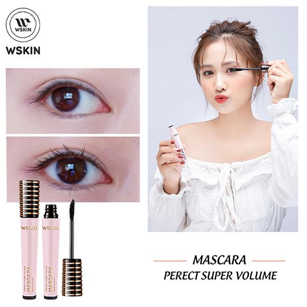 CHUỐT MI SIÊU DÀI KHÔNG THẤM NƯỚC WSKIN Mascara Perfect Super Volume
