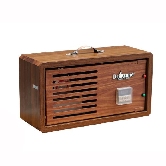 Máy khử mùi Ozone đa năng DrOzone, công suất 4g/h, vỏ gỗ chống thấm DrAir A4 - Hàng Chính Hãng
