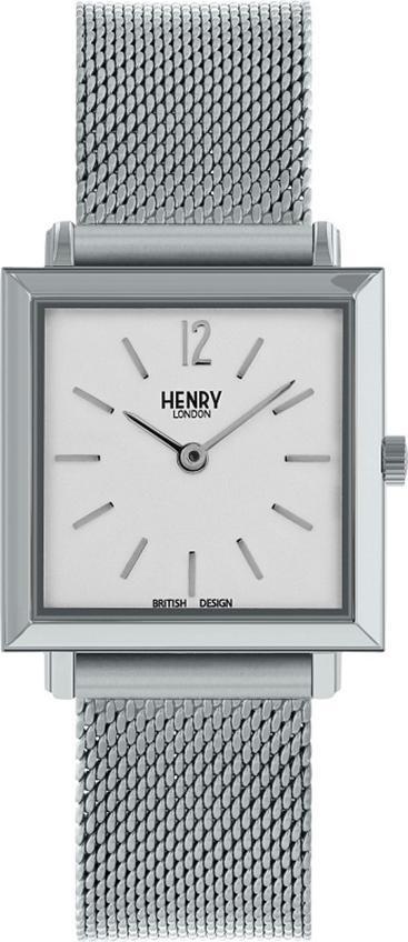 Đồng Hồ Nữ Dây Thép Không Gỉ Henry London HL26-QM-0265 Heritage Square (26mm) + Dịch Vụ Khắc Tên