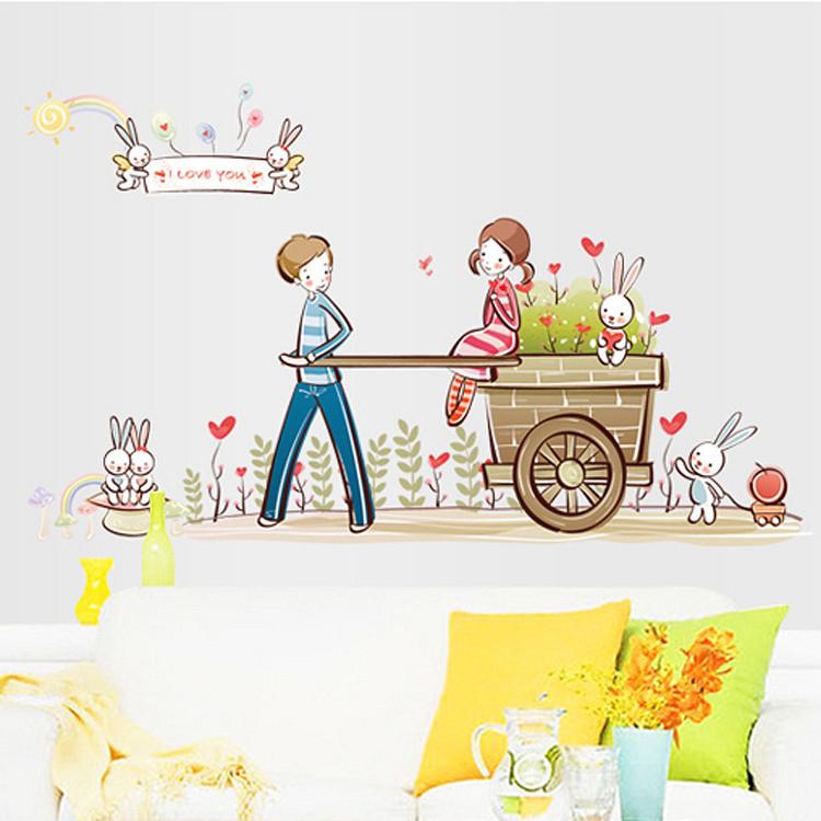 Decal dán tường tình yêu lãng mạn cho bé ZOOYOO AY7094