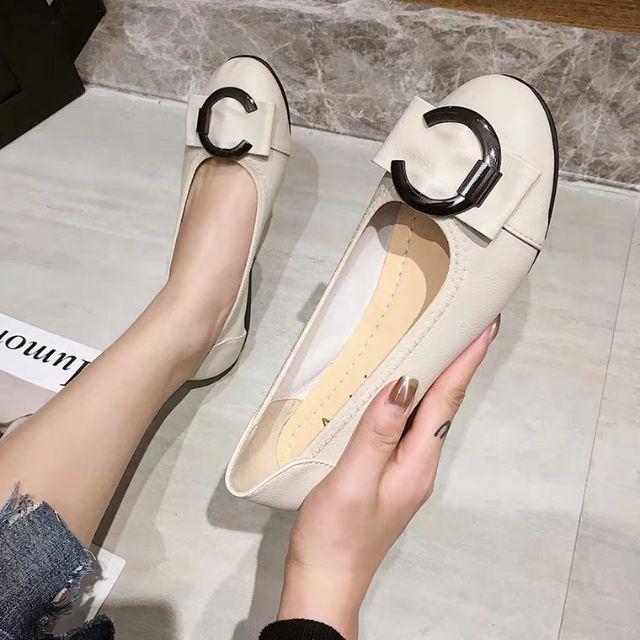 (Order) Giày búp bê 2p khóa tròn da mềm full size 40-43