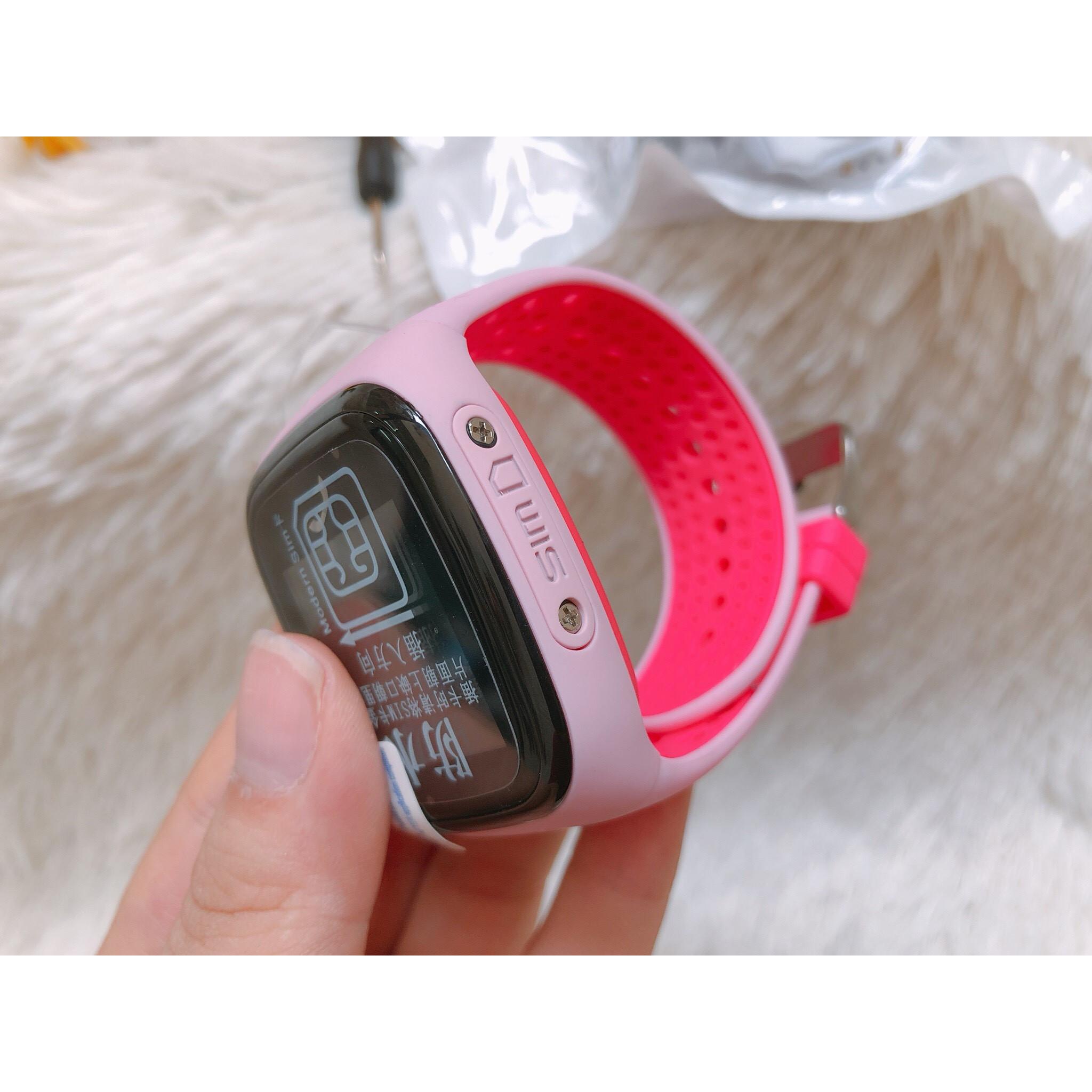 Đồng hồ định vị chống nước trẻ em DF28 - màu hồng