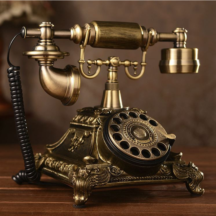 ĐIỆN THOẠI TÂN CỔ ĐIỂN DT4  bàn phím quay , dùng cáp điện thoại cố định nghe gọi âm thanh rõ ràng (điện thoại bàn tân cổ điển)