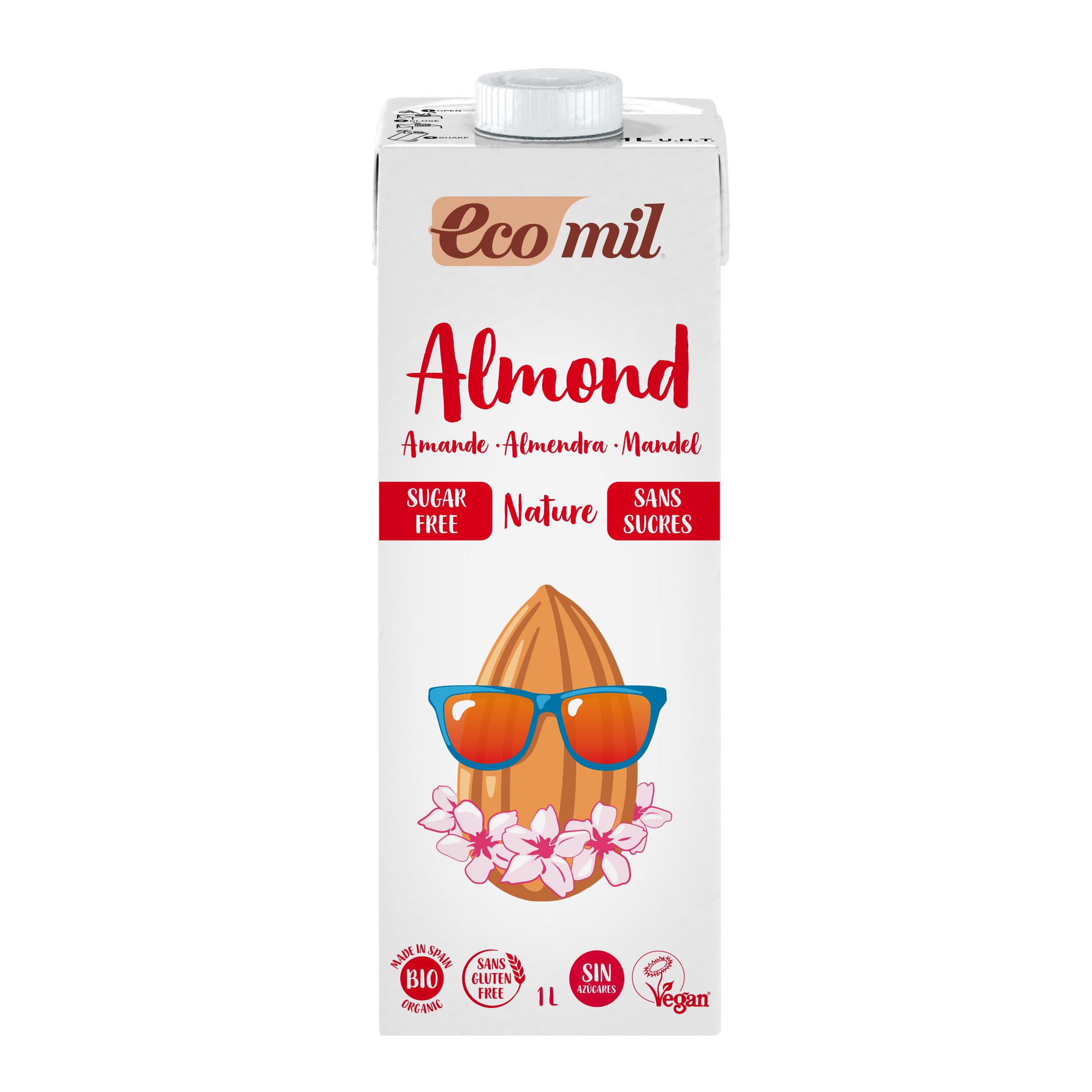 Sữa Hạt Hạnh Nhân Không Đường Hữu Cơ Ecomil 1L - Organic Almond Milk Sugar-free