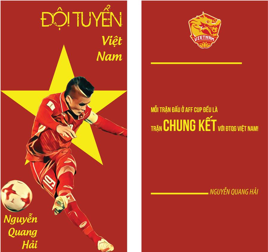 Set 6 Chiếc Lì Xì Nguyễn Quang Hải - Đội Tuyển Việt Nam