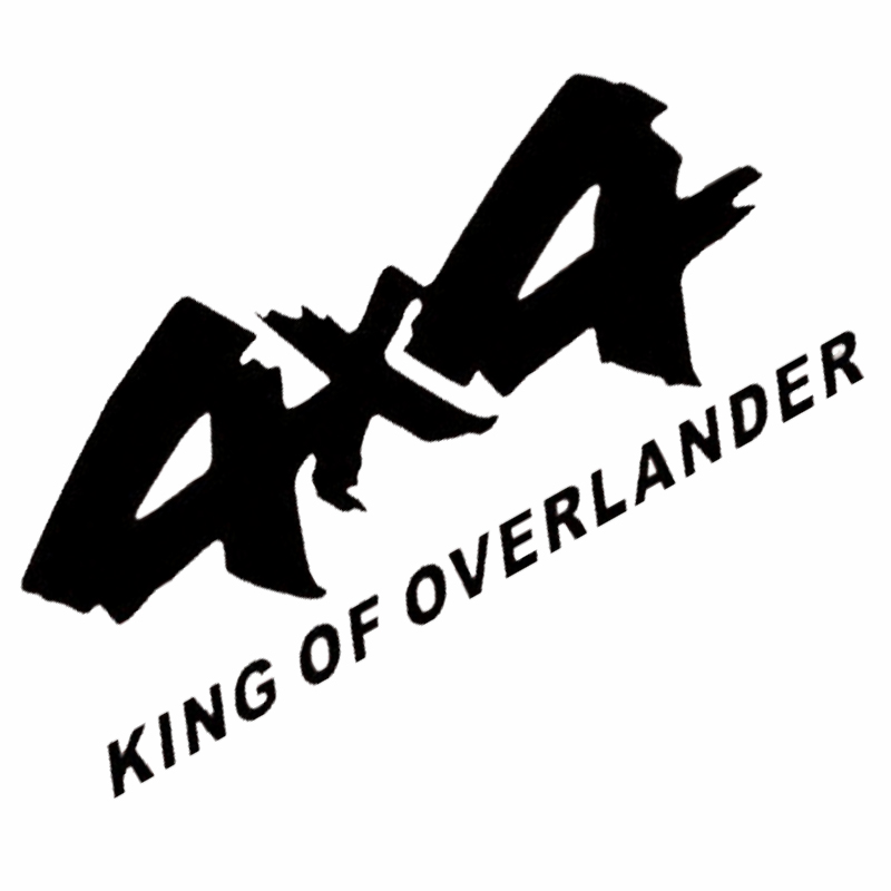 4x4 KING OF OVERLANDER - Sticker transfer hình dán trang trí Xe hơi Ô tô size 29x13cm