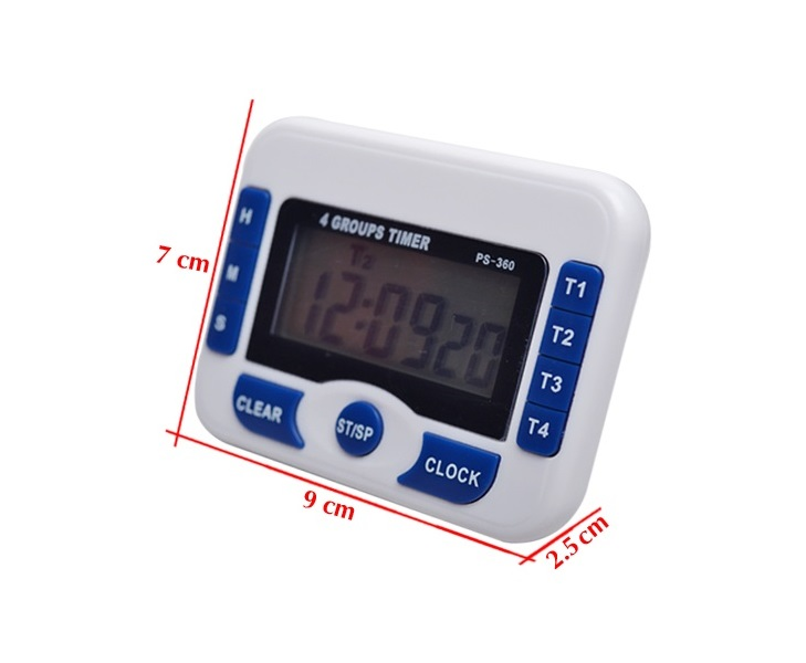 Đồng hồ thông minh bấm giờ đếm ngược có chuông báo Version2 ( Tặng kèm 03 móc treo đồ dán tường chịu lực ngẫu nhiên )