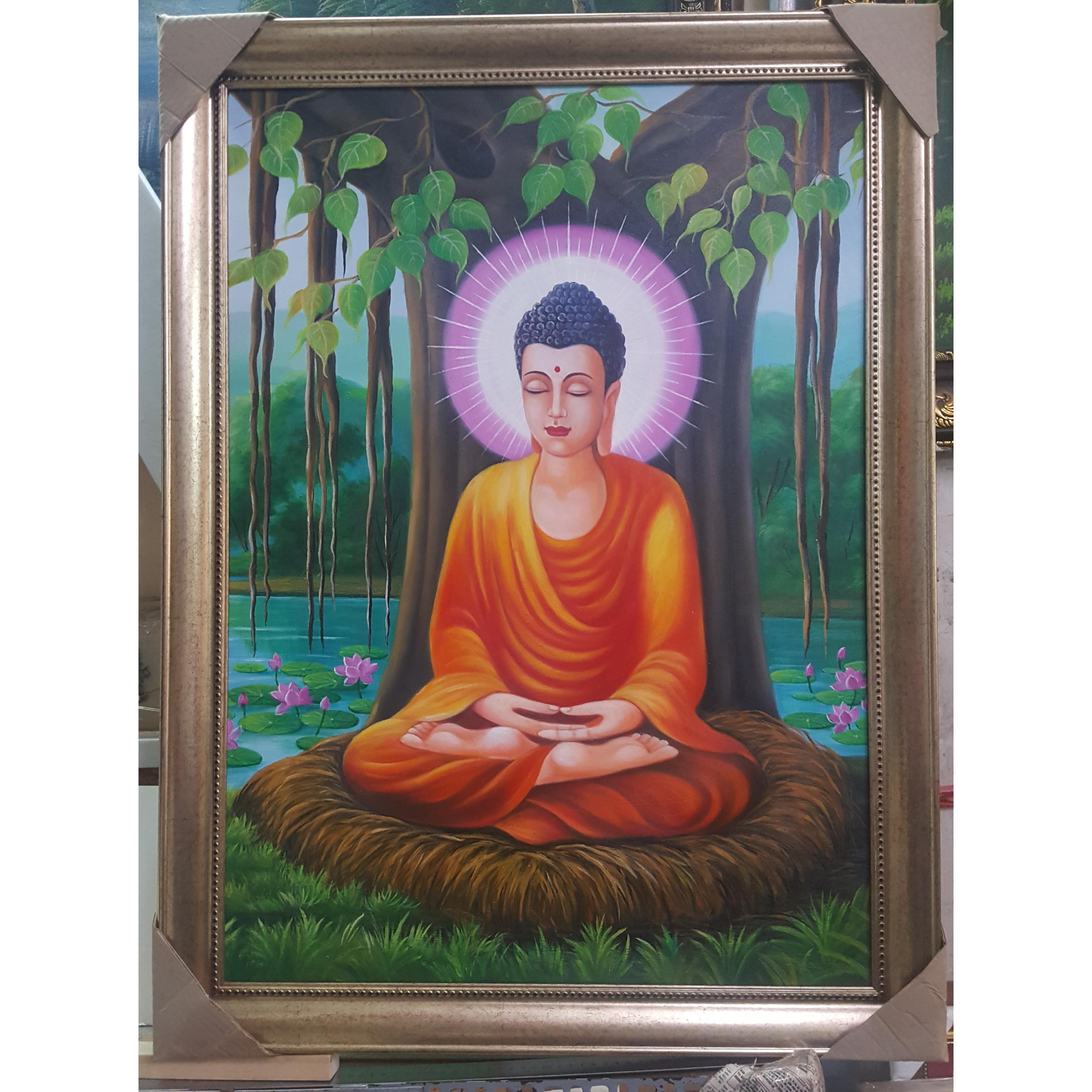 Đức Phật-Tranh sơn dầu vẽ tay Thành Phẩm