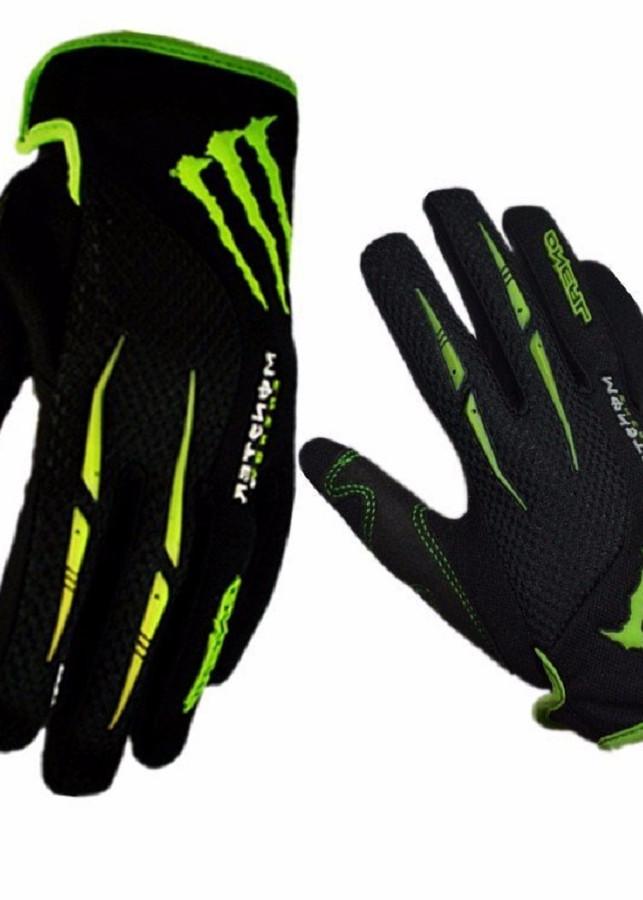 Găng tay Monster viền xanh full ngón