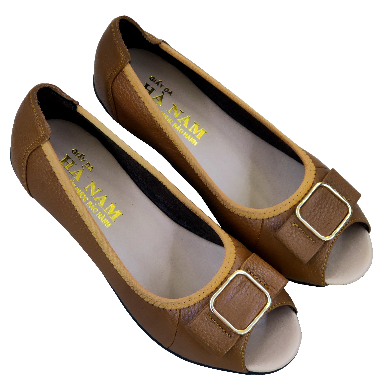 Giày Nữ Búp Bê Da Bò Thật Cao Cấp BBN2026