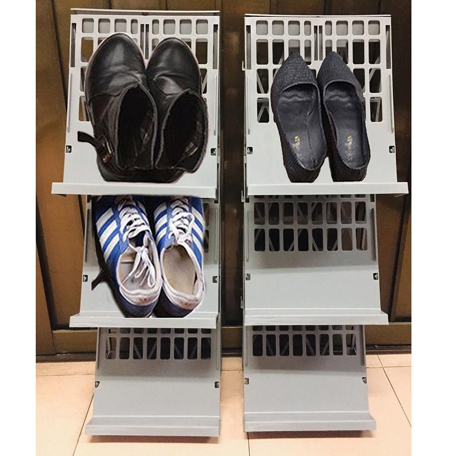 Kệ giày nhựa 3 tầng Tashuan TS-5334 (giao màu ngẫu nhiên)
