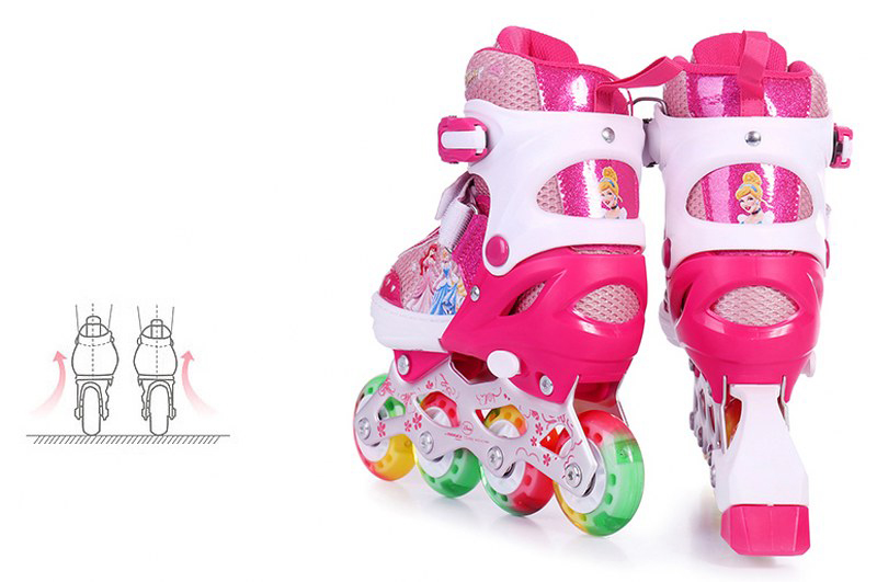 Bộ Giày trượt Patin trẻ em DP Công Chúa có ánh sáng (Kèm bộ phụ kiện)