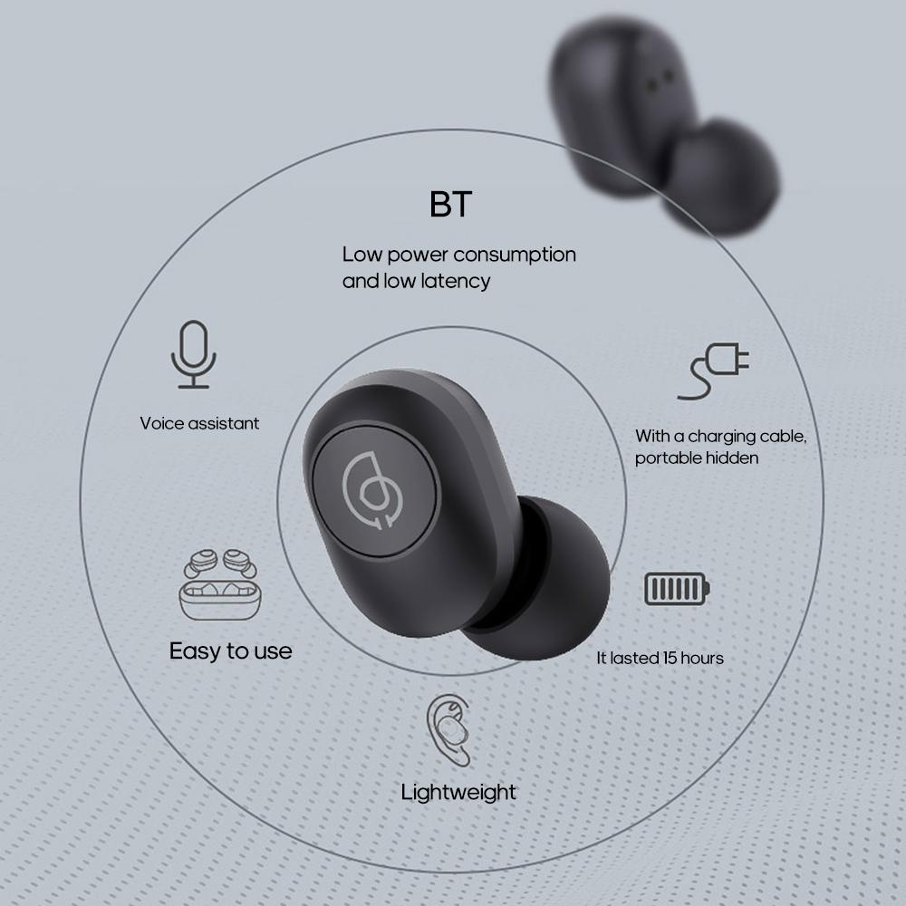 Tai Nghe Bluetooth Không Dây True Wireless Haylou GT2 Bluetooth 5.0 - Hàng Chính Hãng - Tai nghe True Wireless Thương hiệu HAYLOU | SieuThiChoLon.com